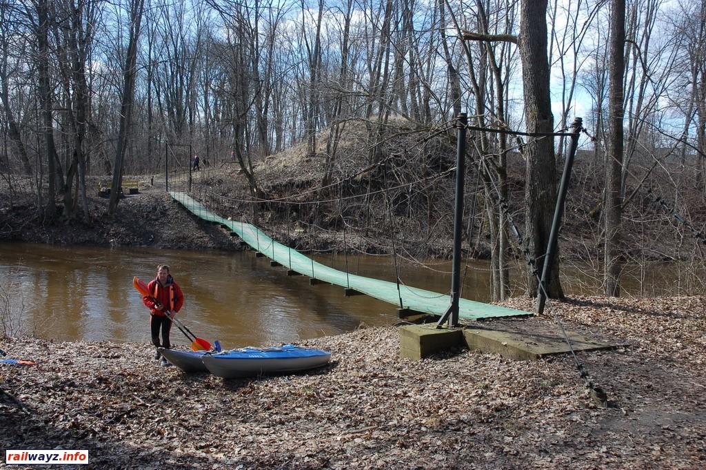 Как сделать подвесной мост через реку