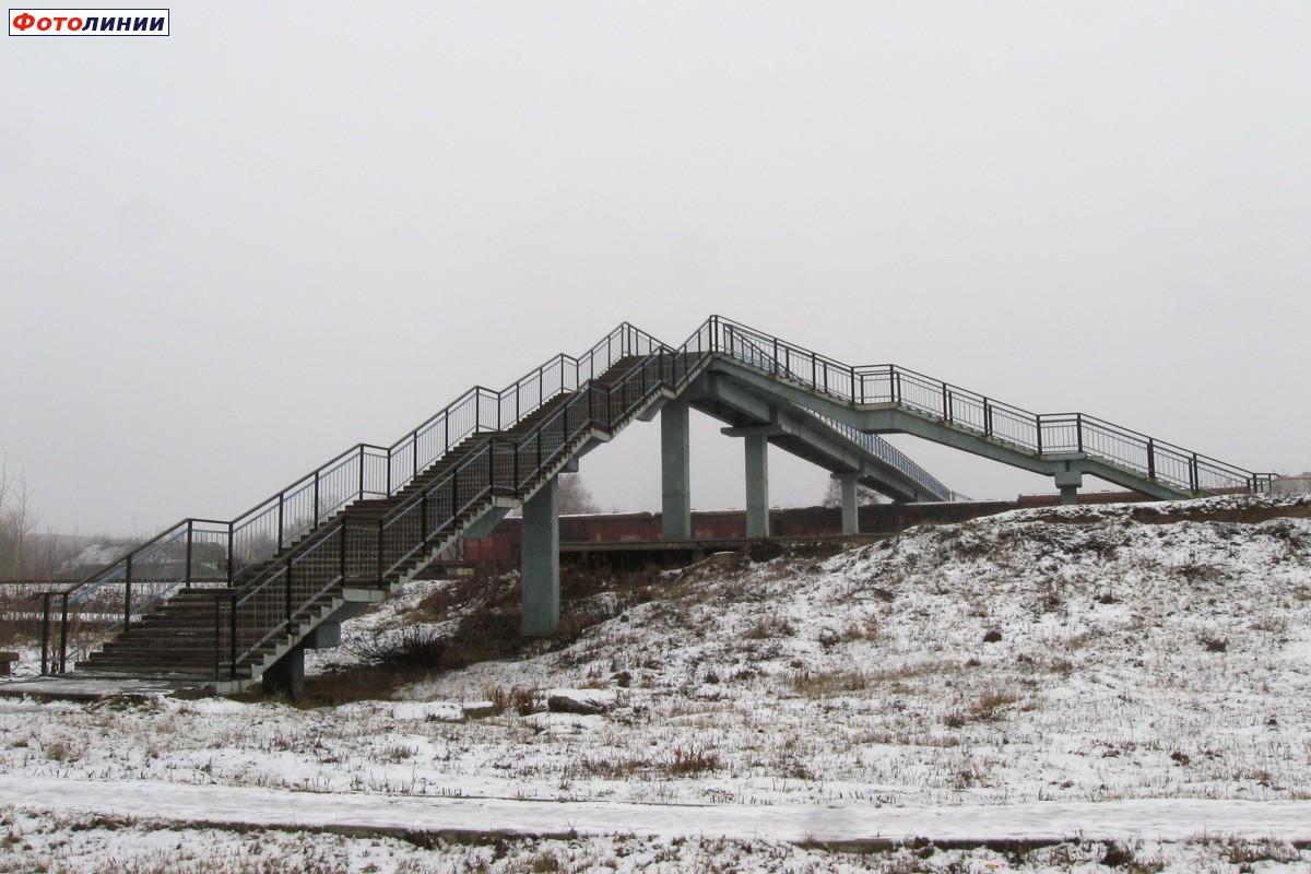 Пешеходный мост станция обловка