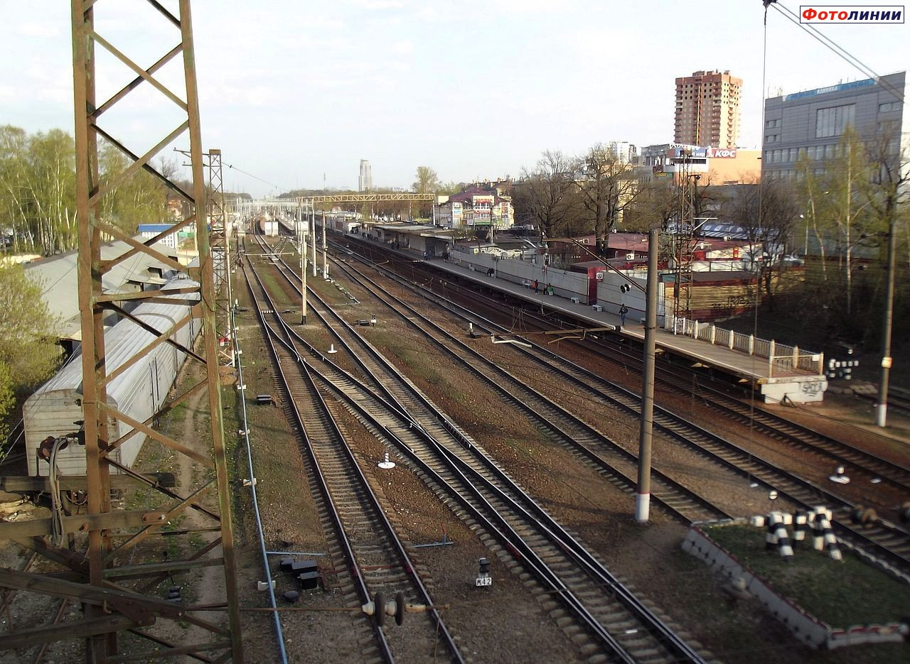 Схема платформ станция химки
